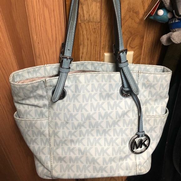 Michael Kors Handbags - Light Blue Leather Michael Kors Bag